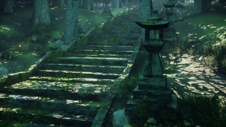 Forest of the Forgotten Temple by Ajinkya Meshram | Nature | 3D | CGSociety
