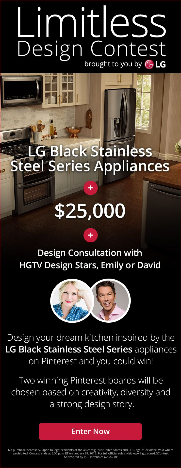 This Rustic Kitchen Pairs Tried And True Textures With Timeless Style  Thanks To The LG Black Stainless Steel Series.