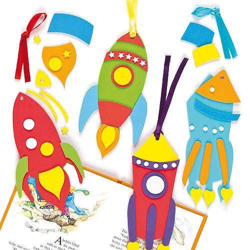 Wannabe astronauts will love these rocket foam bookmarks! Great for kids craft parties, or a creative session at home or school.