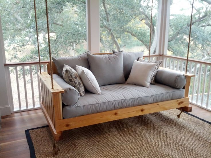 Porch Swing The Daniel Island Cedar Swing By LowcountrySwingBeds Outdoor Bed Swing