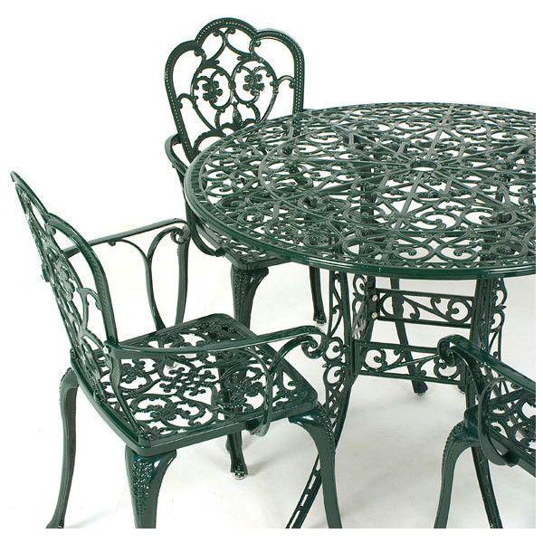 Stamford Juno Cast Aluminium 4 Armchair 90cm Circular Carver Set Dark       liked. Best 25  Aluminium garden furniture ideas on Pinterest   Terrace