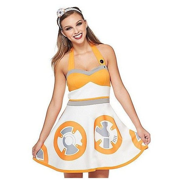 Adult HER Universe BB-8 Dress Star Wars ❤ liked on Polyvore featuring costumes, star wars halloween costumes, star wars costumes, adult costumes, star wars adult costumes and white halloween costumes