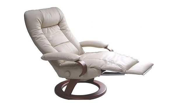 Lafer Ella Recliner Chair Soft Black Leather Fcf204