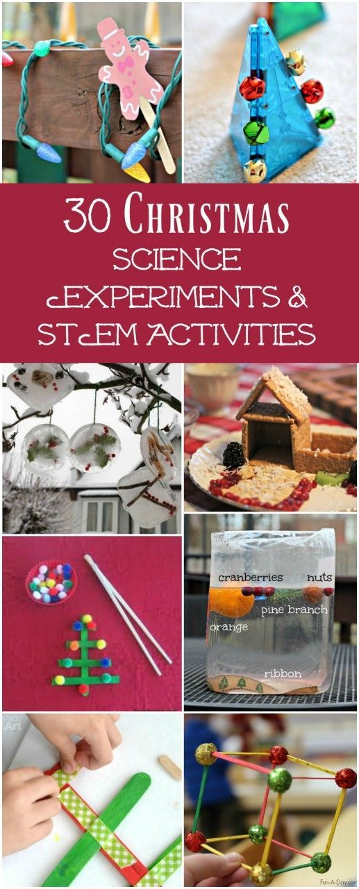30 Christmas Science Experiments & Activities for Preschool to Middle School Kids - great ideas for holiday learning at home & in the classroom!