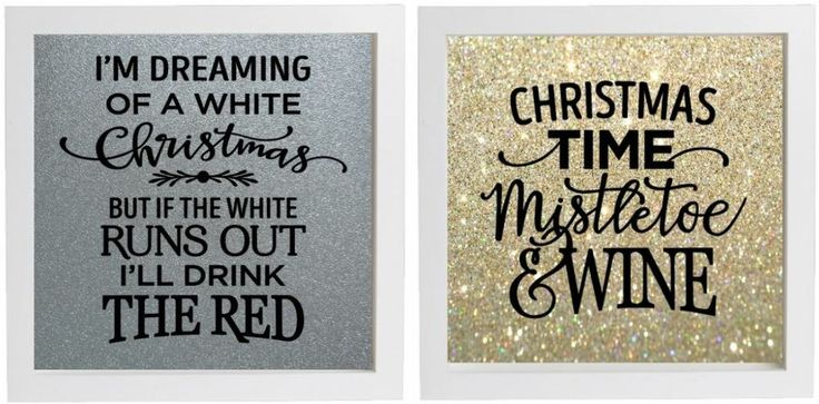 Vinyl sticker 20cm x 20cm diy box frame im dreaming of a white christmas