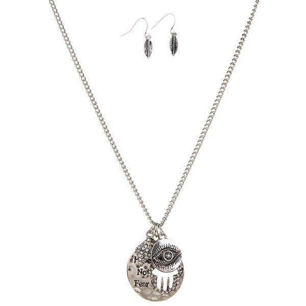 Palm Letter Engraved Coin Rhinestone Rhombus Eye Leaf Jewelry Set ($4.19) ❤ liked on Polyvore featuring jewelry, coin jewelry, rhinestone jewelry, leaves jewelry, initial jewelry and leaf jewelry