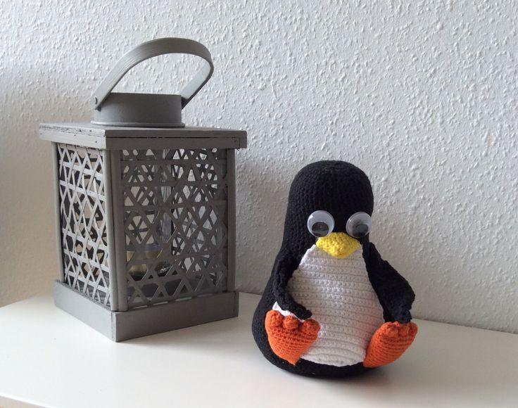 Hæklet pingvin - gratis opskrift