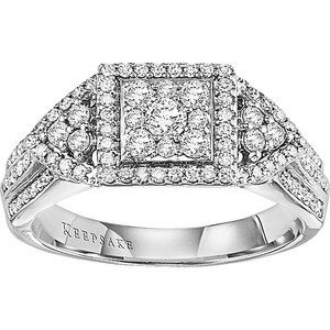 Keepsake Contessa 5/8 Carat T.W. 14kt White Gold Engagement Ring
