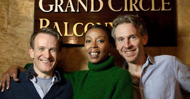 Jamie Parker, Noma Dumezweni, Paul Thornley, les acteurs principaux de la pièce...