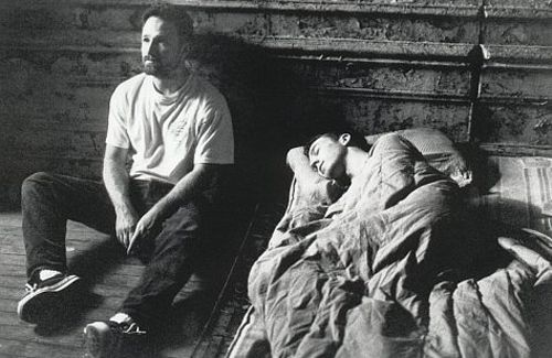 "David Fincher and Edward Norton ""Fight Club""."