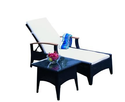 Sienna Outdoor Wicker Sun Lounge