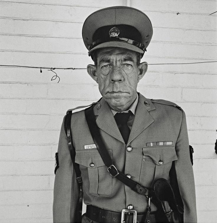 Sergeant F. de Bruin Department of Prisons; photo by Roger Ballen, 1992: