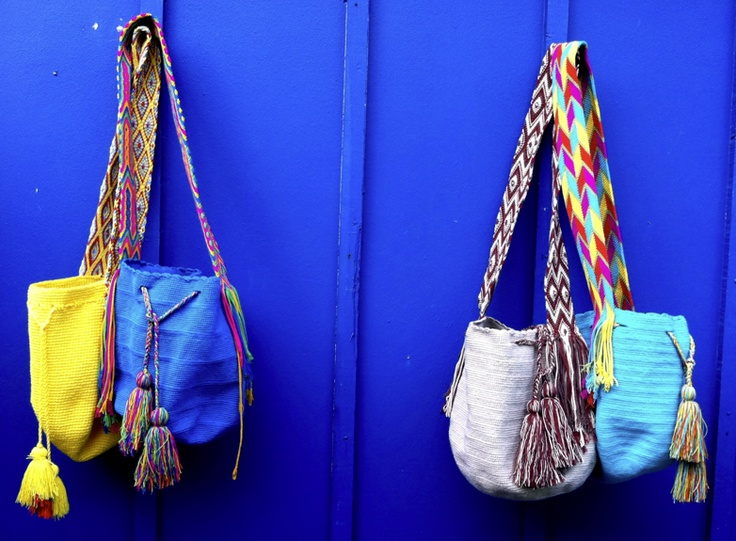 Dare to wear one of these bright and summery Wayuu mochilas this season? Handcrafted in Colombia by Wayuu tribeswomen, each one requires up to 40 hours to complete!