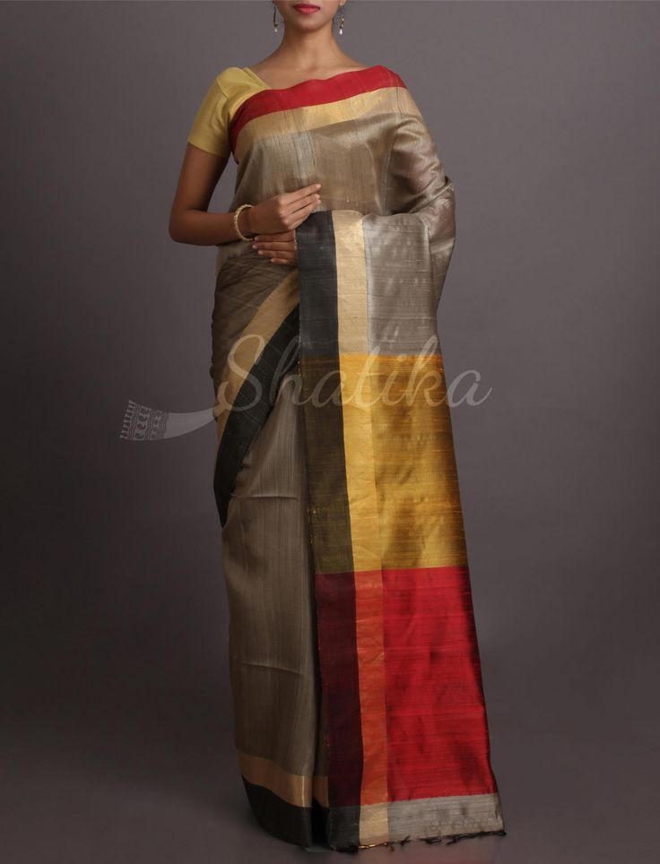 Tupur Splash Of Colors Bright #KhadiSilkSaree