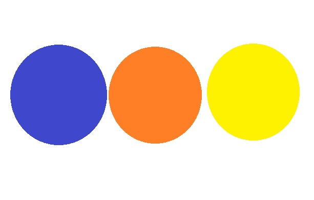 Blue Orange And Yellow Are Great Color Combinations