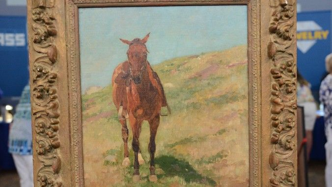 "Charles Schreyvogel ""A Lone Horse"" Oil, ca. 1900 