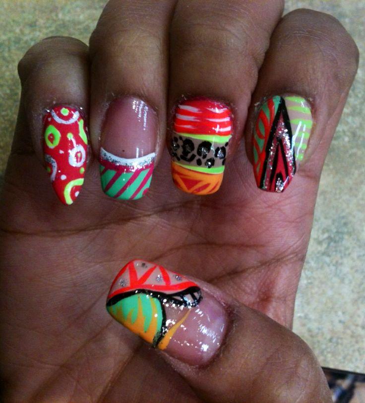 Crazy Nail Art Designs: 168 Best My Crazy Nail Art/Designs Images On Pinterest