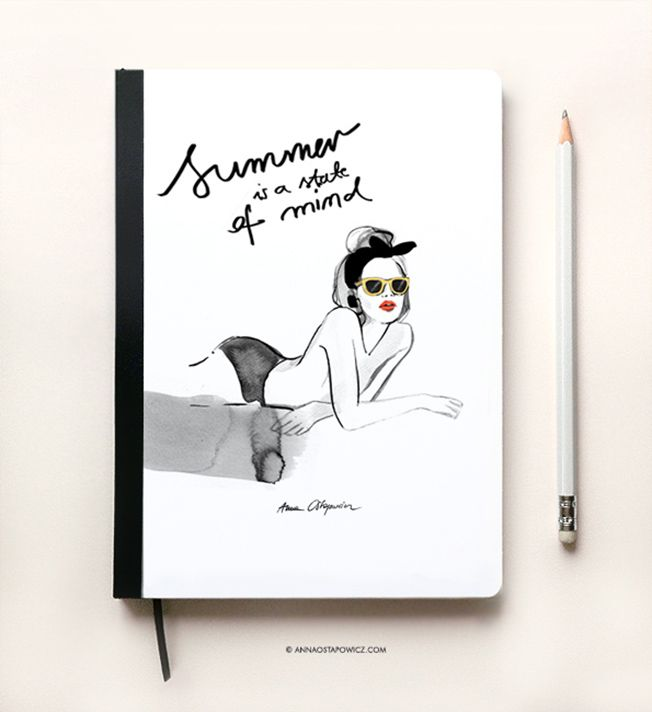 Summer Notebook, Illustration Anna Ostapowicz, #parisian, #laplage, #notebook, #illustration