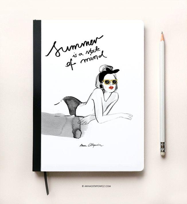 Summer Notebook, Illustration Anna Ostapowicz, #parisian, #laplage, #notebook, #illustration