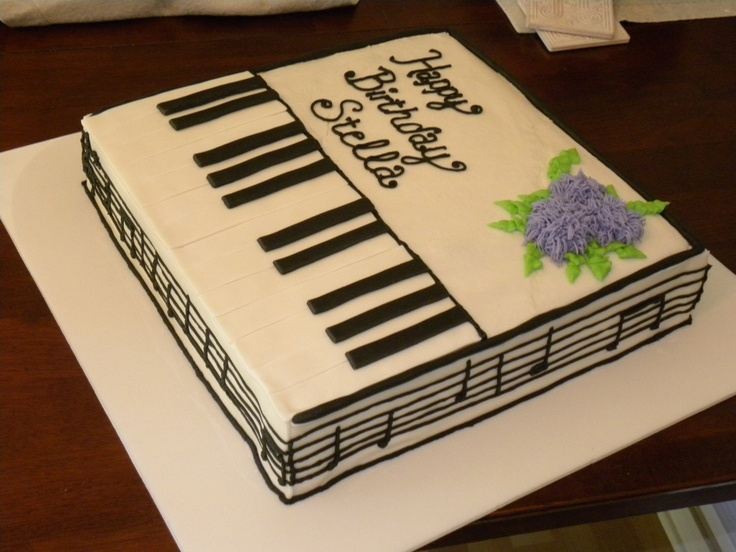 Cake Designs Piano : Piano sheet music cake - This was a cake taking ...