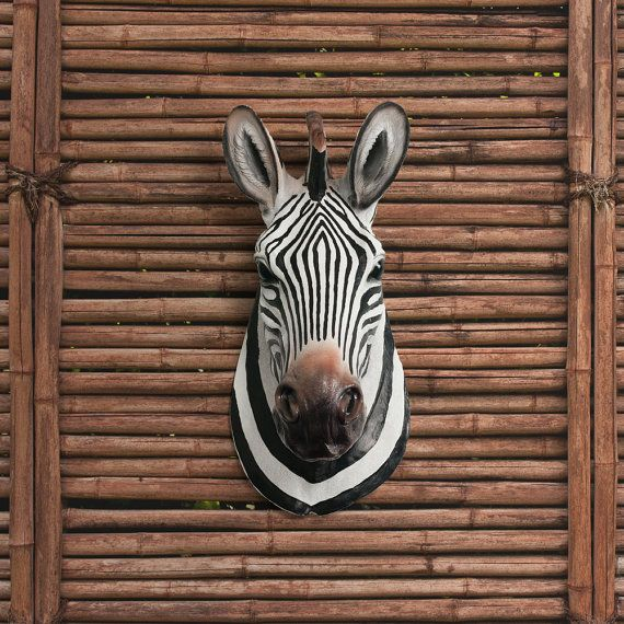 Zebra Head Wall Decor : Zebra head faux taxidermy the kalahari african wall