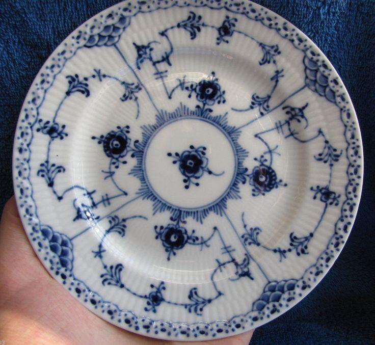 Denmark Royal Copenhagen plate saucer white blue fluted 1st quality pottery…