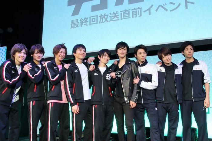 11日、テレビドラマ「男水!」の最終回直前イベントが都内にて行われ、キャストの松田凌、…