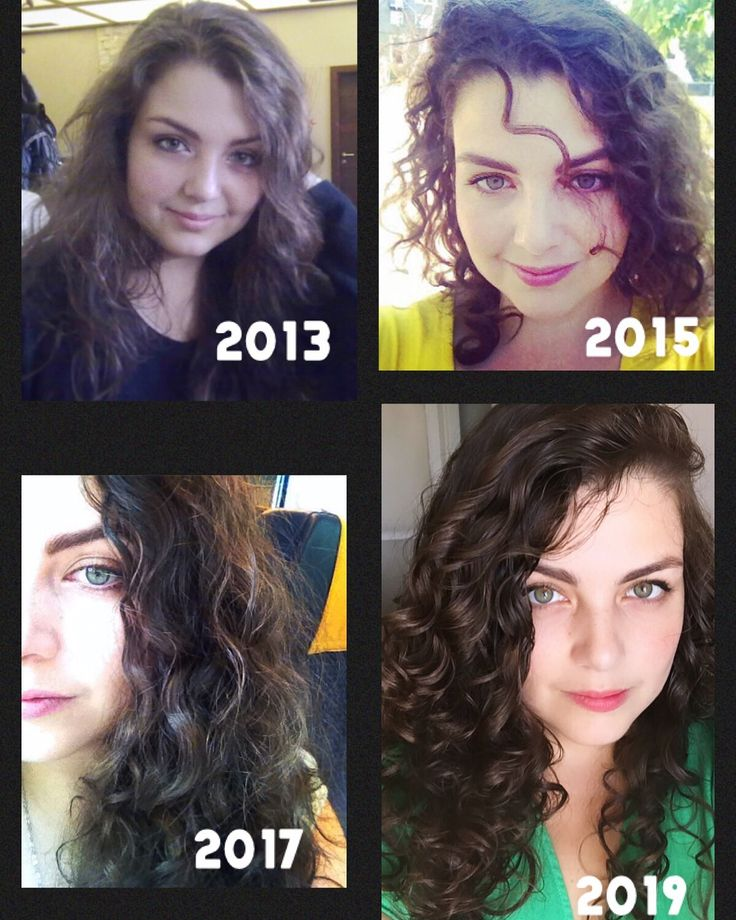 Before and after the curly girl method! curlyhair