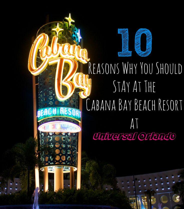 10 Reasons Why You Should Stay at Cabana Bay Beach Resort at Universal Orlando.