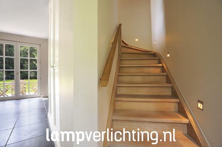 Met deze led inbouwspot kan je een trap op indirecte wijze verlichten. #trapverlichting #interieurdesign #ledverlichting