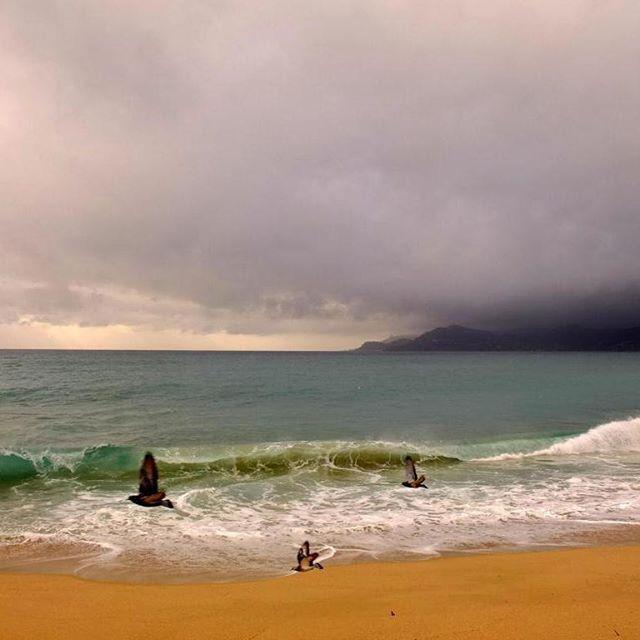 Autumn cloudy day #sea #Cannes #beach  http://www.royalchill.com
