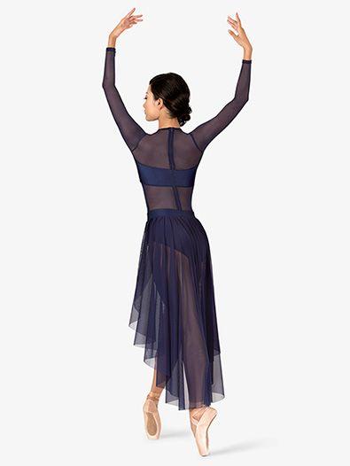087faa440 Adult Long Sleeve High-Low Dance Performance Dress in 2019 | Ballet & Dance,  My Loves | Jazz dance costumes, Contemporary dance costumes, Dance dresses