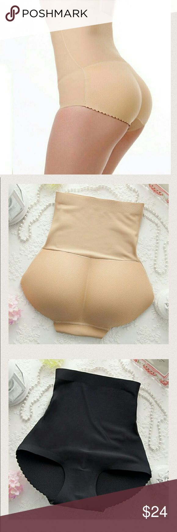 """Padded panty High Waist Briefs sexy Charming Women Padded panty High Waist Briefs sexy Charming Women slim underwear bottom hip up briefs Butt Enhancer body shaper panties  AVAILABLE  IN BLACK AND BEIGE  FROM SMALL TO XL  SIZES RUNS VERY SMALL   SIZE CHART """" M FROM 23 TO 26.9 L FROM 27 TO 29.9 XL FROM 30 TO 32"""" Intimates & Sleepwear Shapewear"""