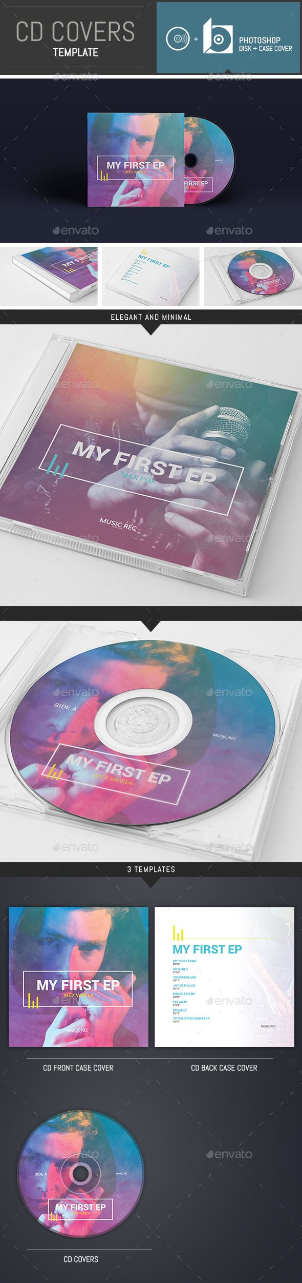 DJ / Musician / Band CD Cover Template - #CD & #DVD Artwork Print Templates