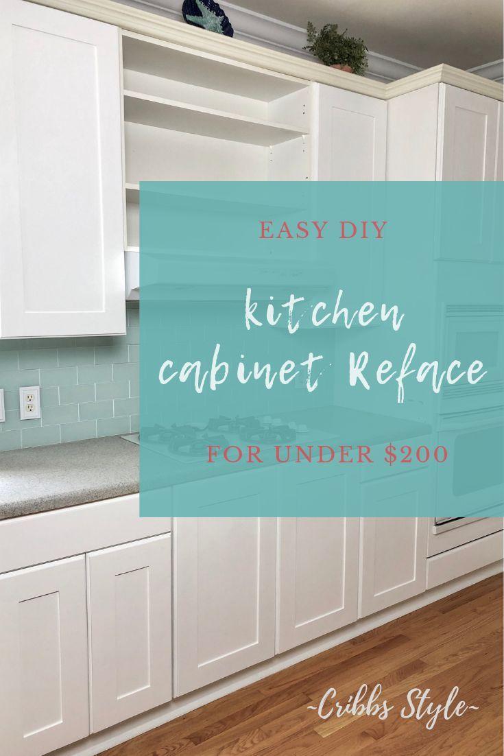 Easy Diy Kitchen Cabinet Reface In 2020 Diy Cabinet Doors Refacing Kitchen Cabinets Diy Kitchen Cabinets