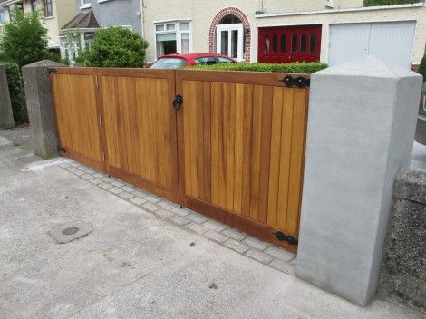 Wooden folding gate design google search ideas for the for Double garden gate designs