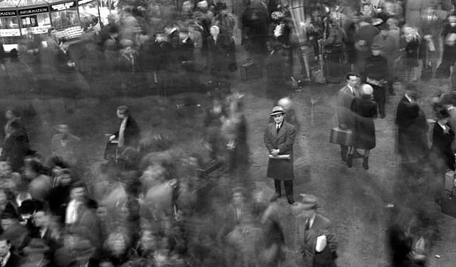 "Paul Himmel, ""Grand Central Terminal,"" 1947. This captures that moment of feeling alone in a crowd"