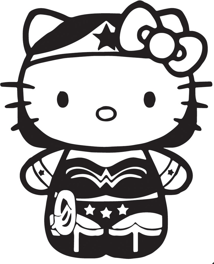 Hello Kitty Wonder Woman Vinyl Decal for Cars, Laptops, iPads, | eBay