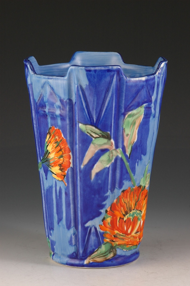 Andrew Muir   Clarice Cliff, Art Deco Pottery, Moorcroft and 20th Century Ceramics Dealer - Rare Marigold vase