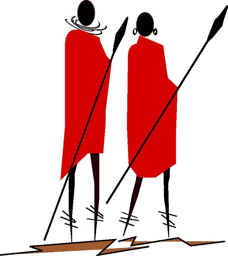 Warrior Trails Safari Company Logo; Maasai Warriors In