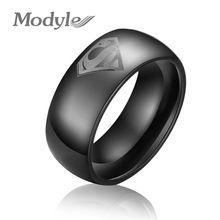 8mm breed zwart super man ring hardmetalen geweven ring superman sieraden groothandel zwarte mannen wolfraam ringen(China (Mainland))