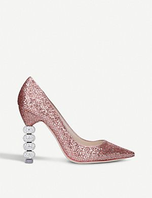 SOPHIA WEBSTER Coco Crystal metallic court shoes (Metal comb