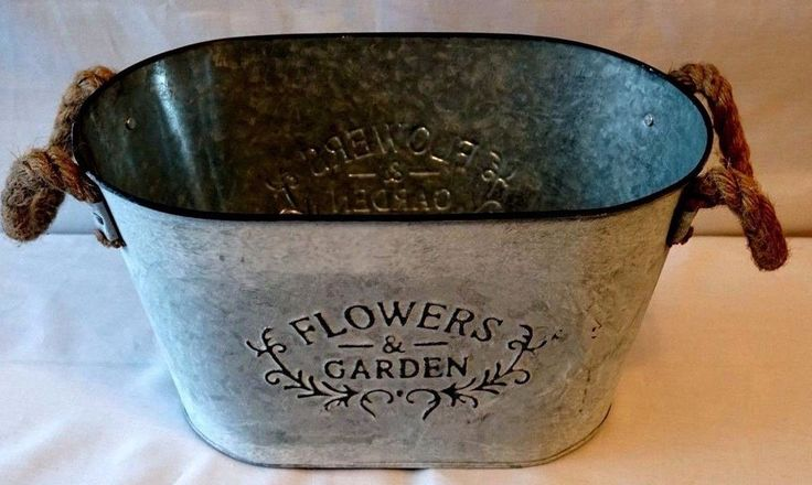 FLOWERS & GARDEN  BATH TUB PLANTER shabby chic style vintage outdoor garden