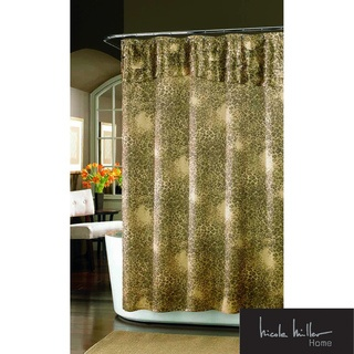 @Overstock.com   This Nicole Miller Wild At Heart Fabric Shower Curtain  Features Nicole