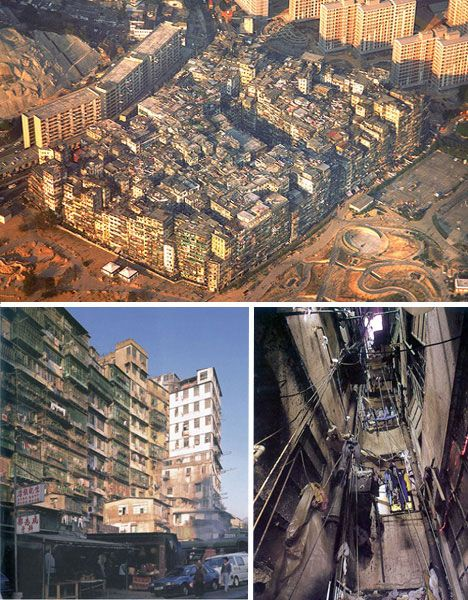 The Kowloon Walled City was located just outside Hong Kong, China during British rule. A former watchpost to protect the area against pirates, it was occupied by Japan during World War II and subsequently taken over by squatters after Japan's surrender. Neither Britain nor China wanted responsibility for it, so it became its own lawless city.