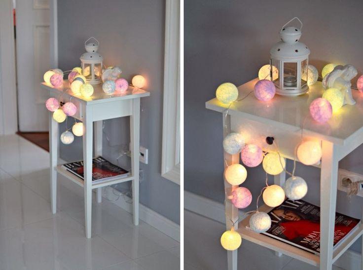 Cykl: Zrób to sam - pomysły na dekoracje do pokoju malucha - lampki