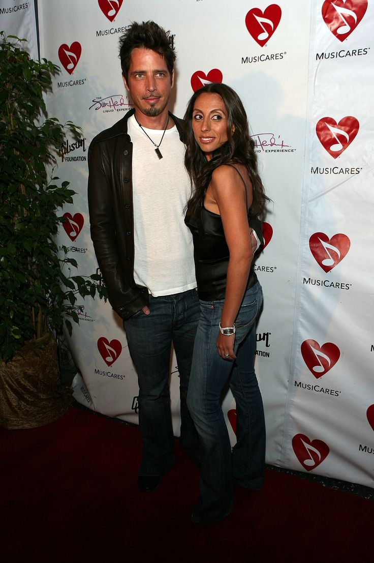 LOS ANGELES, CA - MAY 11:  Musician Chris Cornell and wife Vicky Cornell attend the 3rd Annual MusiCares MAP fund benefit at the Music Box in the Henry Fonda Theater on May 11, 2007 in Los Angeles, California.  (Photo by Chad Buchanan/Getty Images) via @AOL_Lifestyle Read more: https://www.aol.com/article/entertainment/2017/05/24/chris-cornells-wife-vicky-pens-letter/22107930/?a_dgi=aolshare_pinterest#fullscreen
