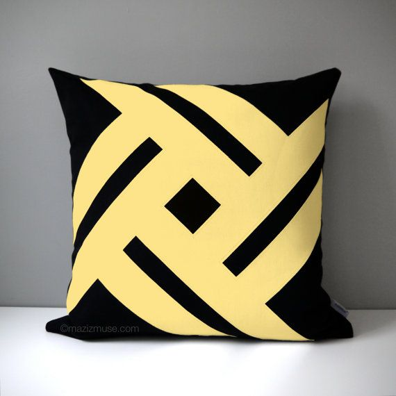 Modern Yellow Decorative Pillows : 17 Best images about Yellow - Modern Pillows by Mazizmuse Design Co on Pinterest Butter, Grey ...