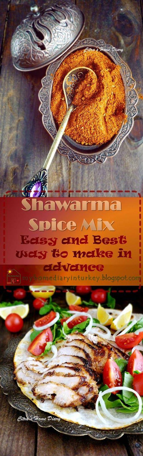 Easy and fragrance Shawarma Spice Rub / Bumbu untuk Shawarma-Çitra's Home Diary