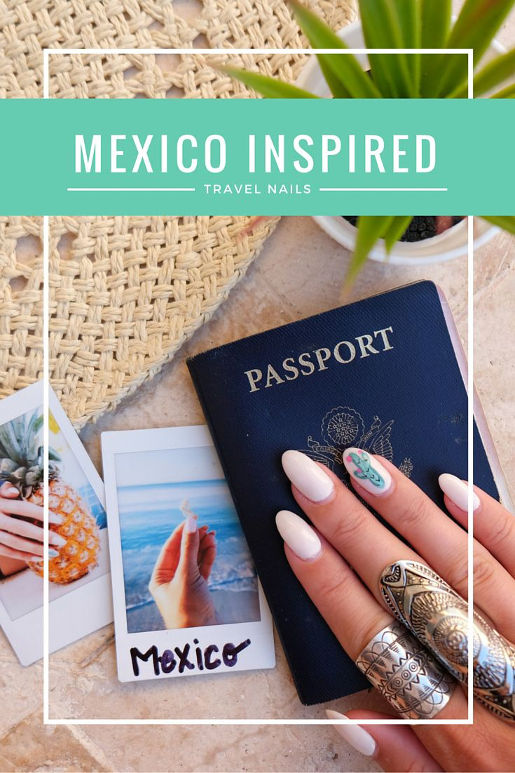 111 best Travel Themed Nails images on Pinterest   Gel nails, Nail ...